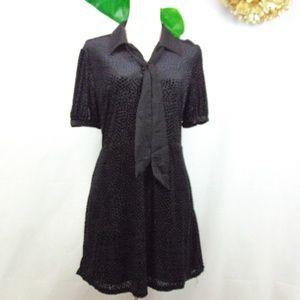 Avec Les Filles black burnout dress